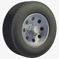 3d van truck wheel rim model