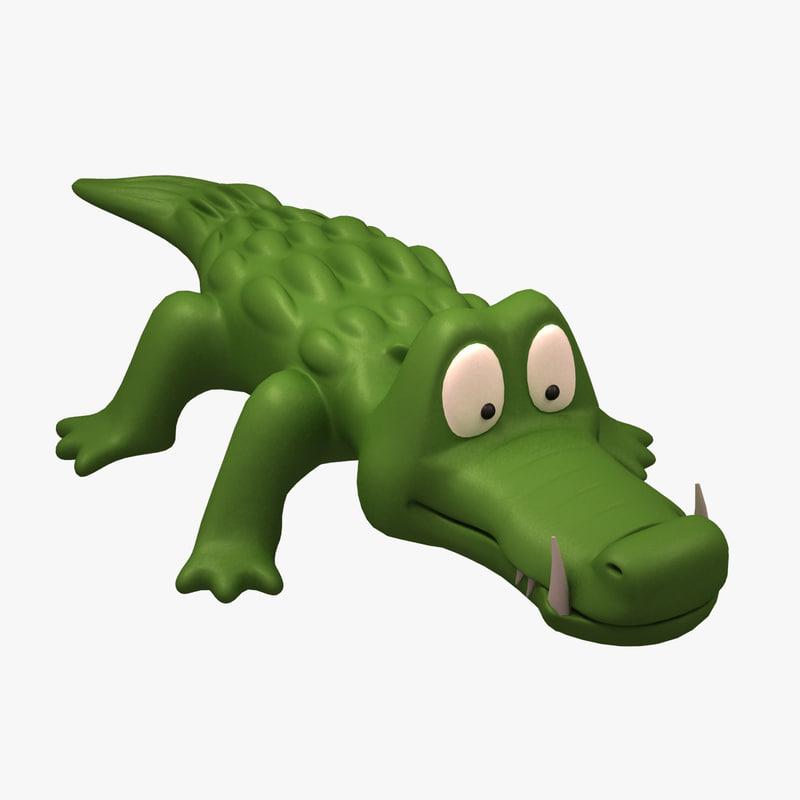 3ds max crocodrille toy