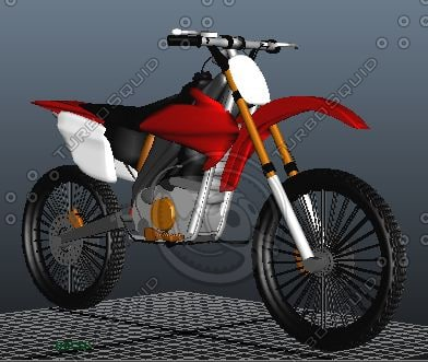3ds max road dirt bike crf
