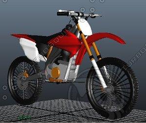 3ds max road dirt bike crf