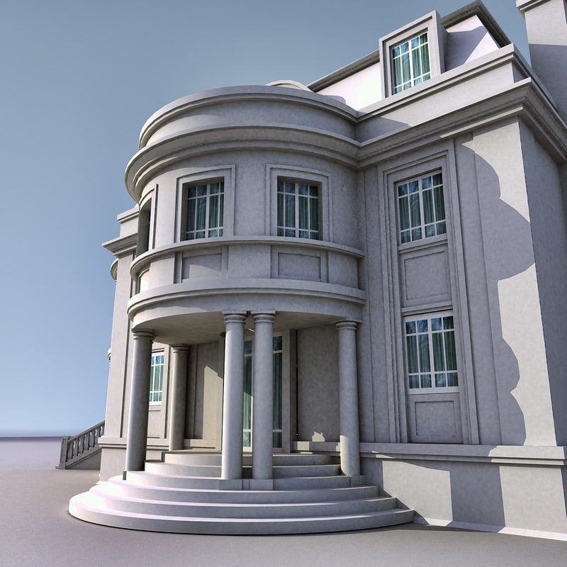 3d max house building villa