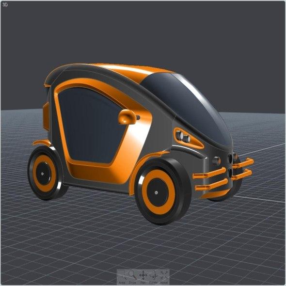 3d concept electric car toy