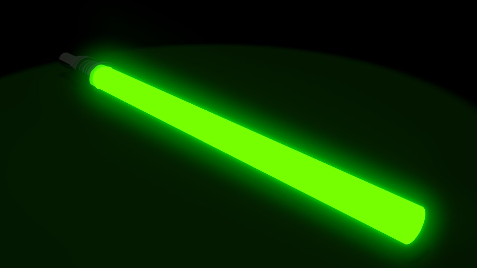 green laser 3d model