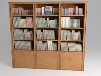 3d bookcase book case model