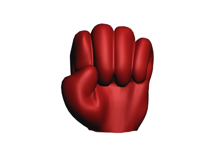 3d model cartoon fist