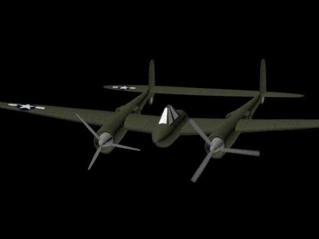 ww2 plane 3d max