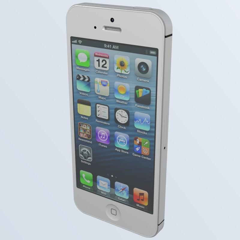 iphone 5 apple 3d 3ds