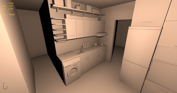 simple kitchen 3d max