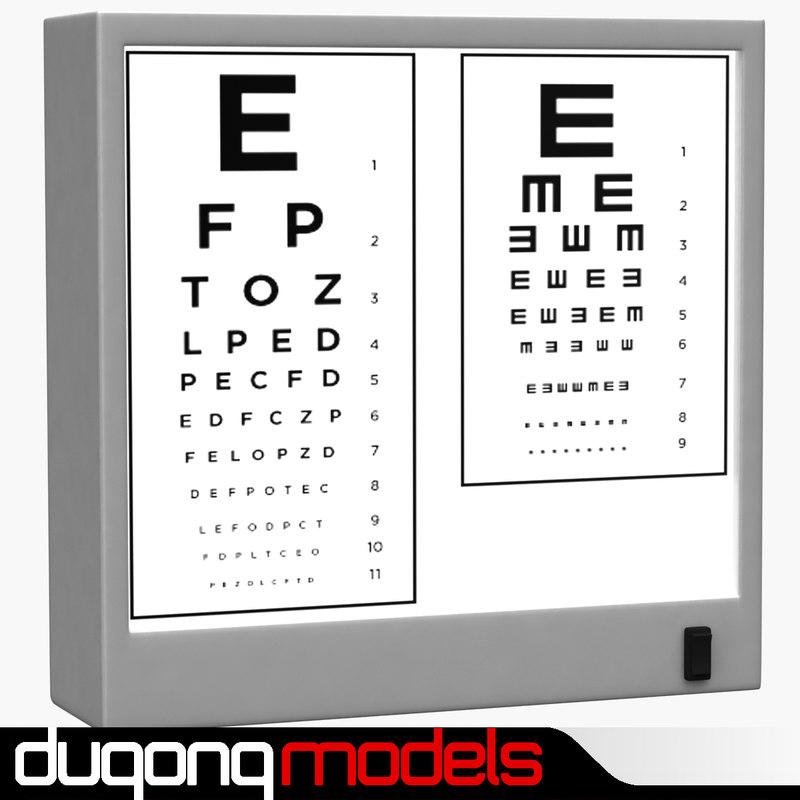 3d model dugm04 optotype