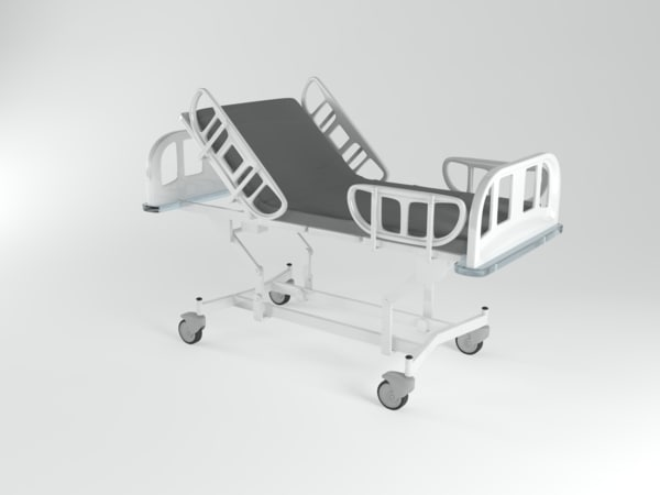 3d model stretcher gurney doolie