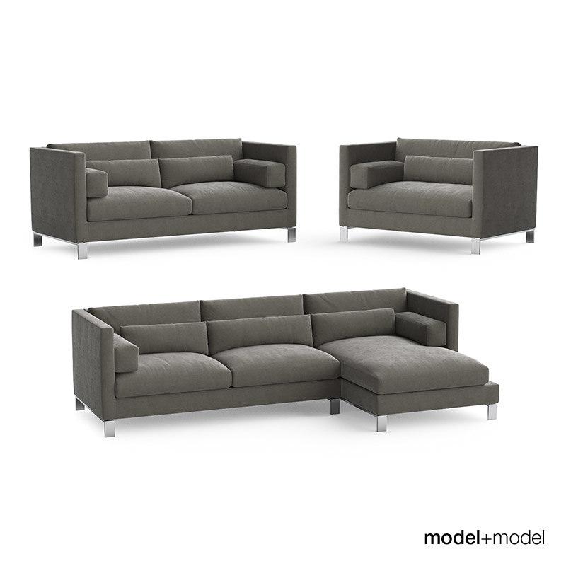 3d model linteloo lobby sofas armchair