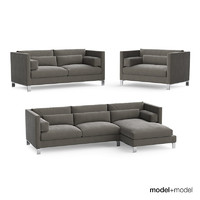 3d model linteloo lobby sofas armchair