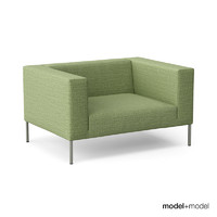 mdf italia alien sofa armchair 3d model