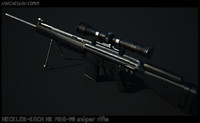 free msg90a1 sniper rifle 3d model
