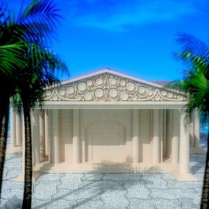 3d model of roman architecture museum