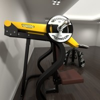 3d technogym gym shoulder model