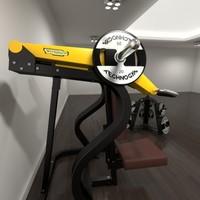 3d technogym gym shoulder model