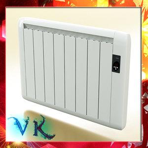 3d radiator scanline model