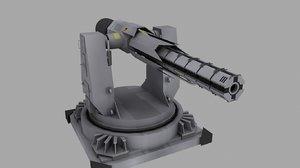 3ds gun turret