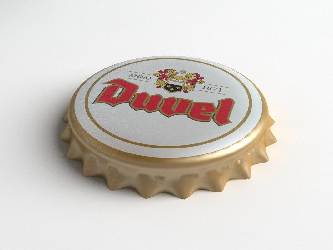 duvel beer bottle tin 3ds