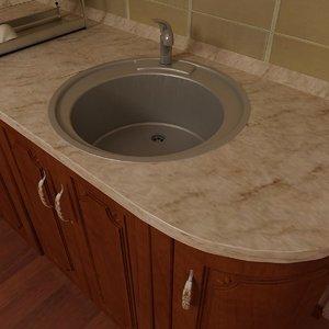 3d 2012 circle kitchen sink