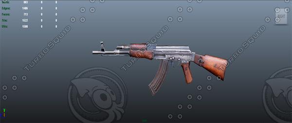 free ak47 riffle 3d model