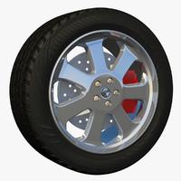 3dsmax rim wheel sport sedan