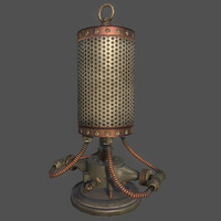 obj steampunk lamp 02