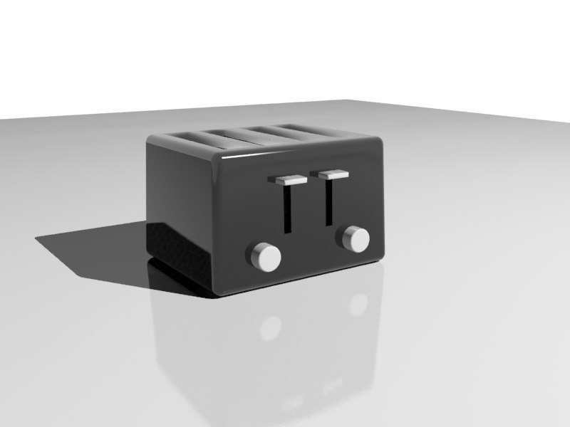 4 toaster 3d model