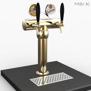 3d model beer tower 2