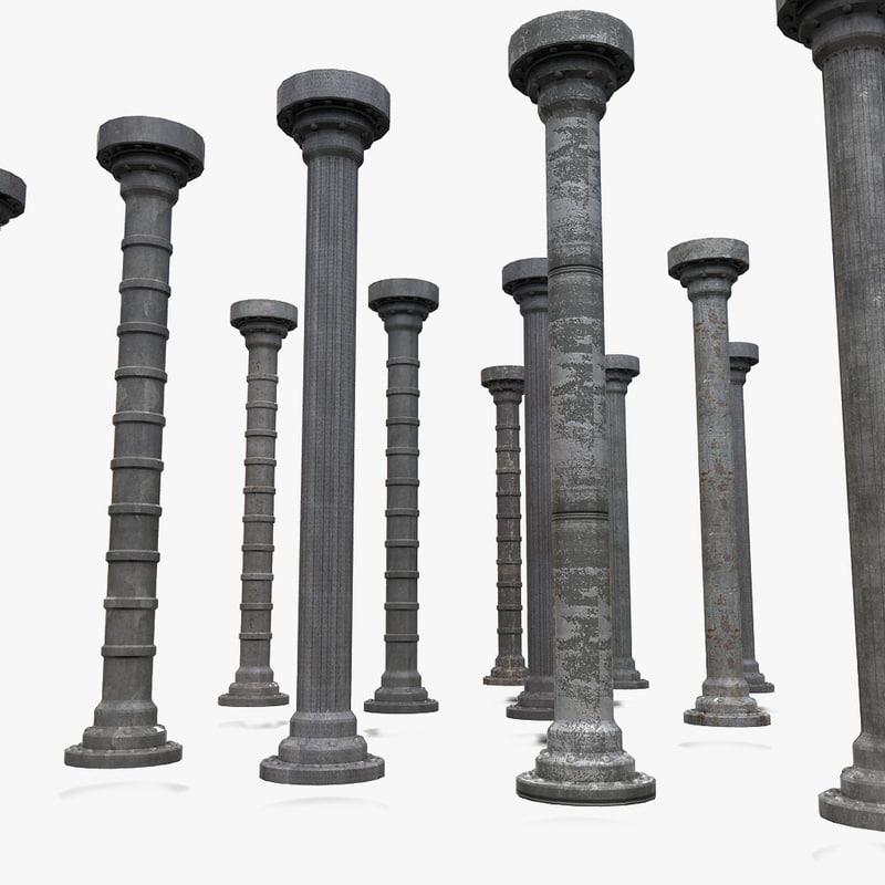 metal column 3ds