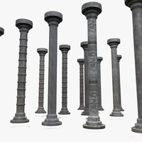 Metal Column Industrial Collection Textured