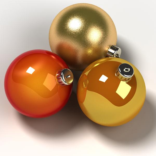 3d ball ornaments model