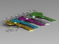 3d model color key