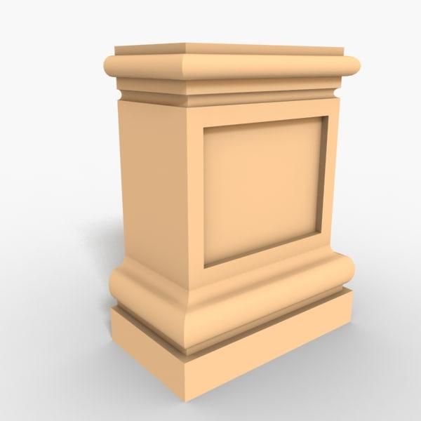 3d model interior plinth block
