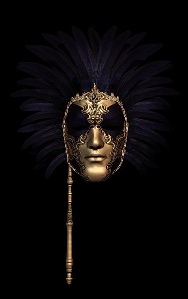 free obj model venetian mask