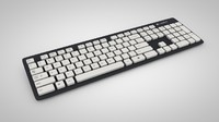 keyboard logitech k310 3d model