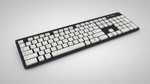 keyboard logitech k310 3d model