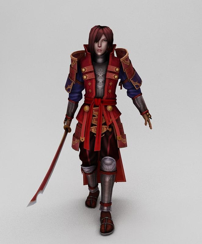 max character samurai
