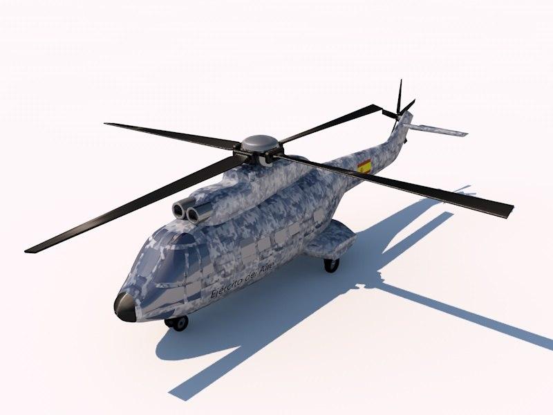 3d 3ds eurocopter as332 super puma