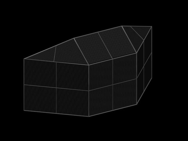 3d model of baseball backstop