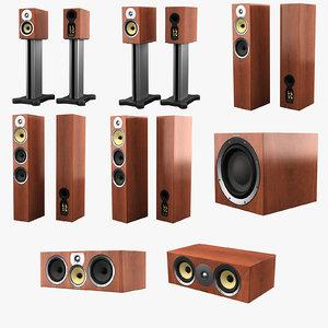 bowers wilkins cm series 3d model