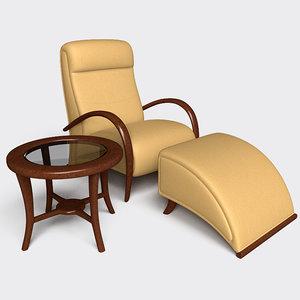 3d furniture armchair model