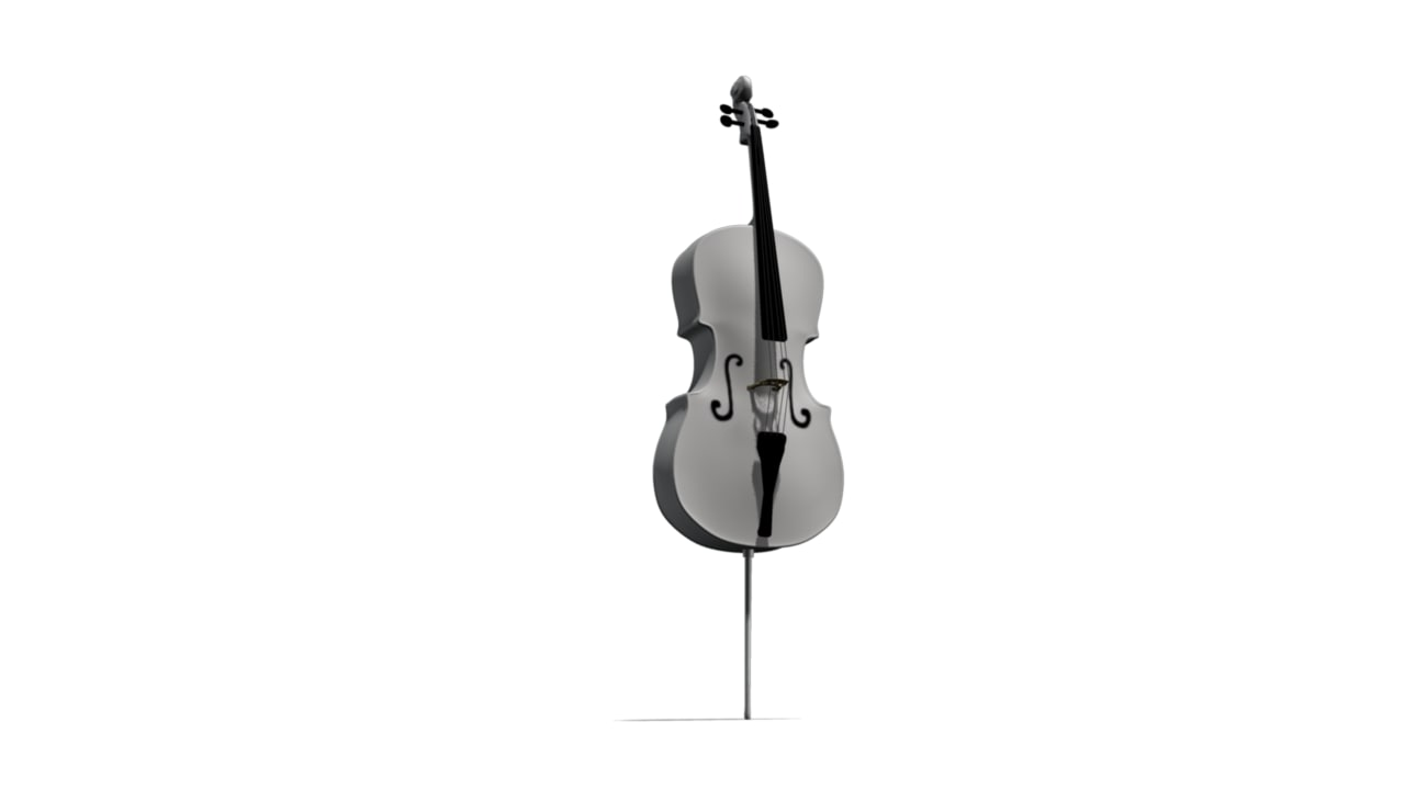white cello obj