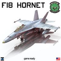 3d model of f18 hornet