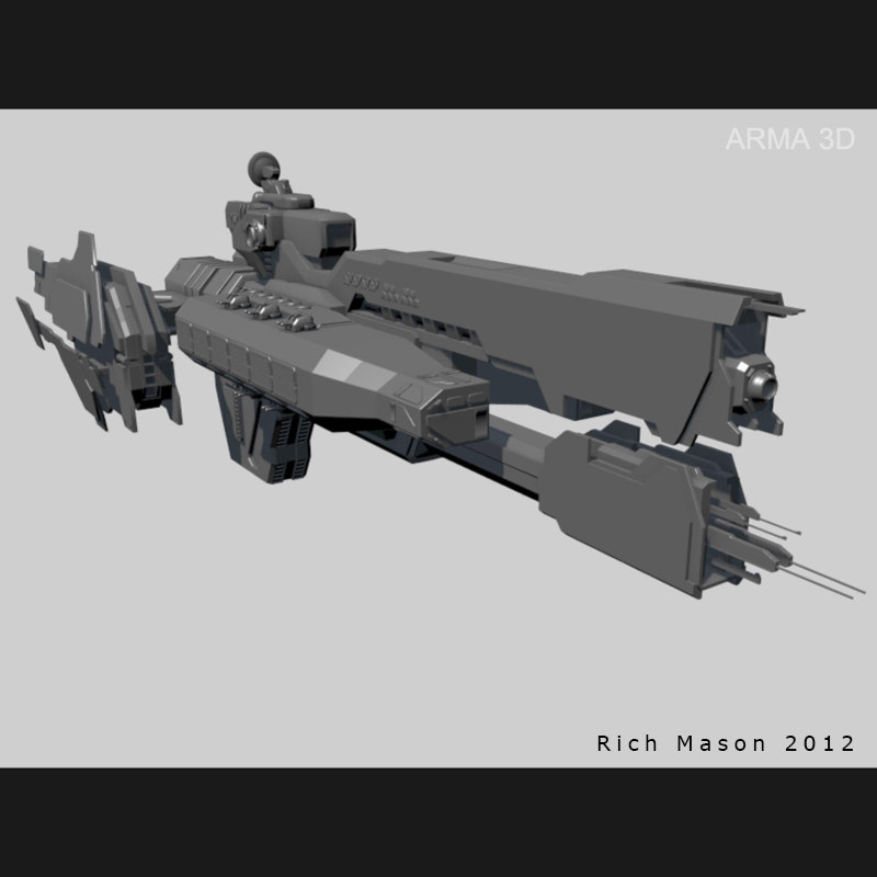 3d model heavy frigate