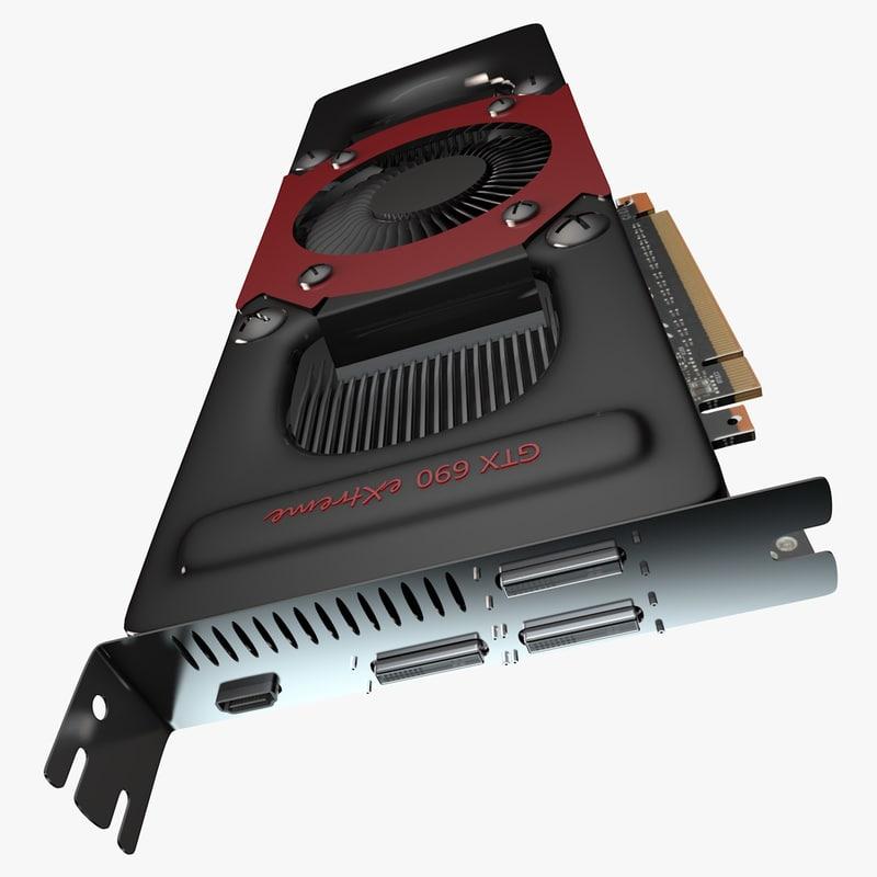 gtx 690 3d model