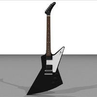 gibson explorer guitar 3d c4d