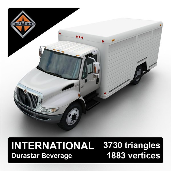 3d model international durastar beverage delivery truck