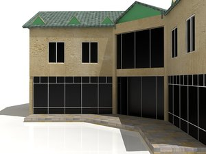 luxury n building 3d model
